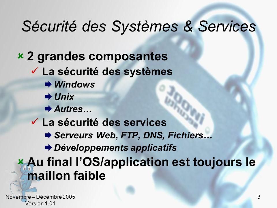 Sécurité des Systèmes & Services