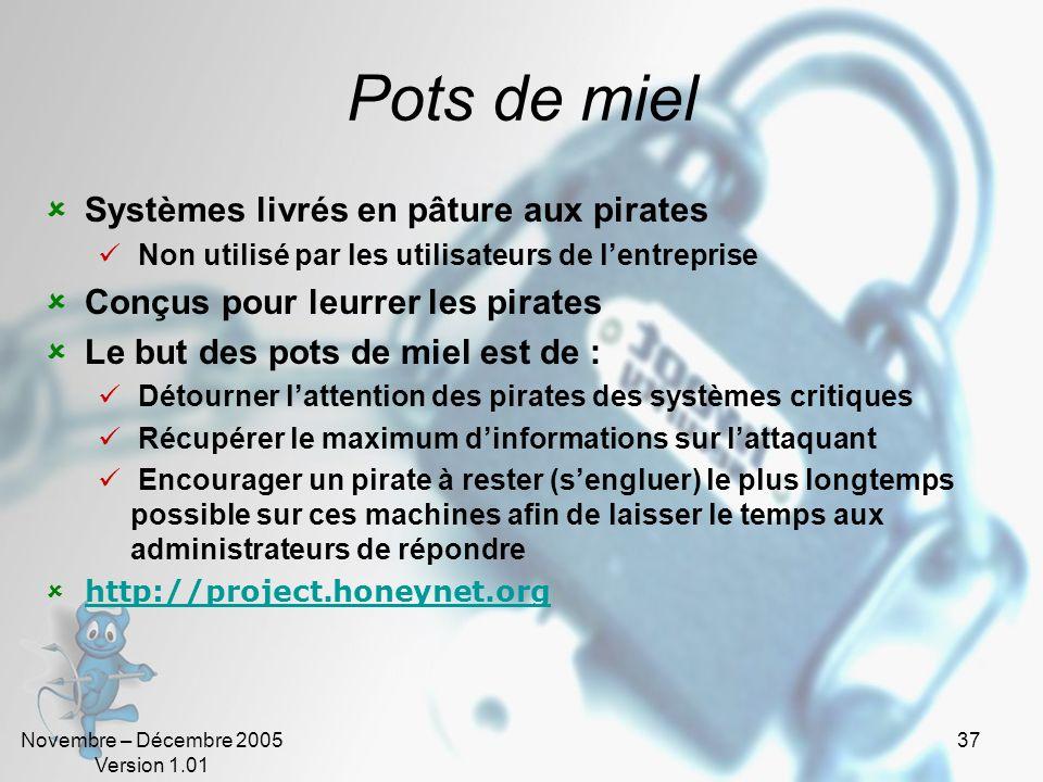 Pots de miel Systèmes livrés en pâture aux pirates