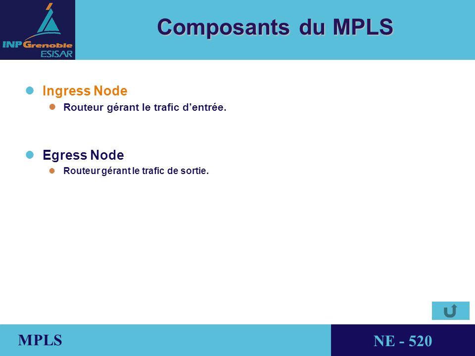 Composants du MPLS Ingress Node Egress Node