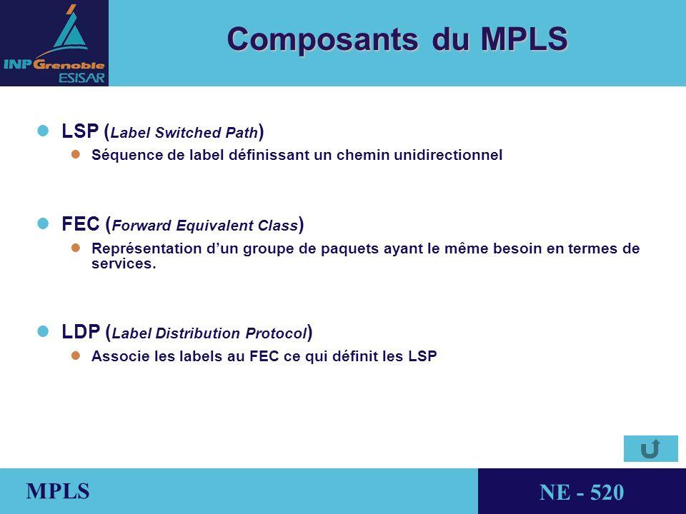 Composants du MPLS LSP (Label Switched Path)