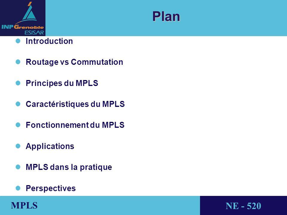 Plan Introduction Routage vs Commutation Principes du MPLS