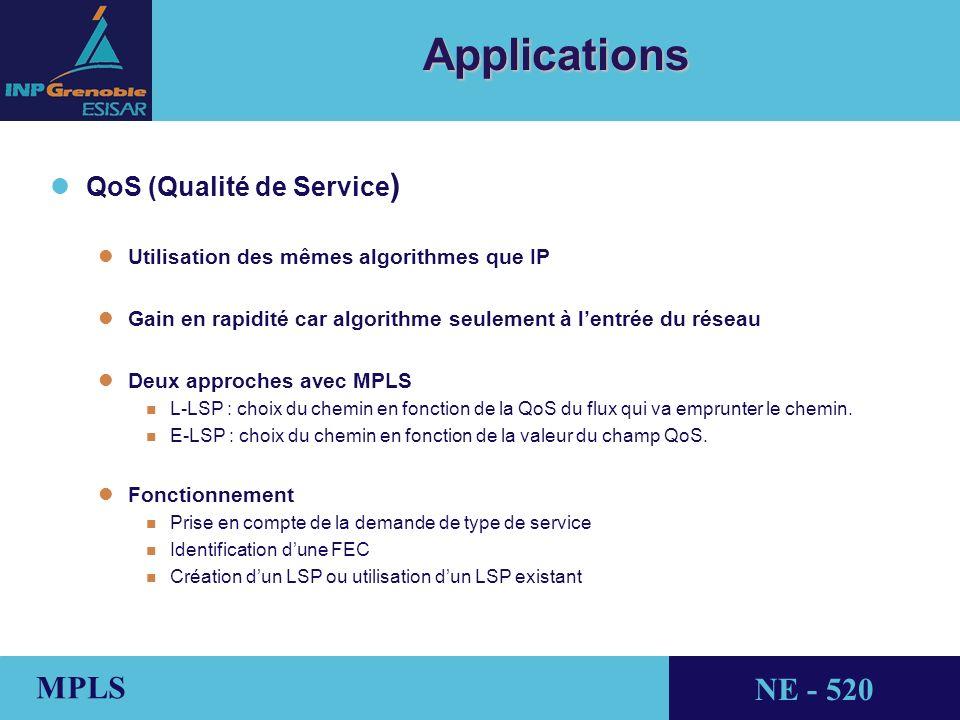 Applications QoS (Qualité de Service)
