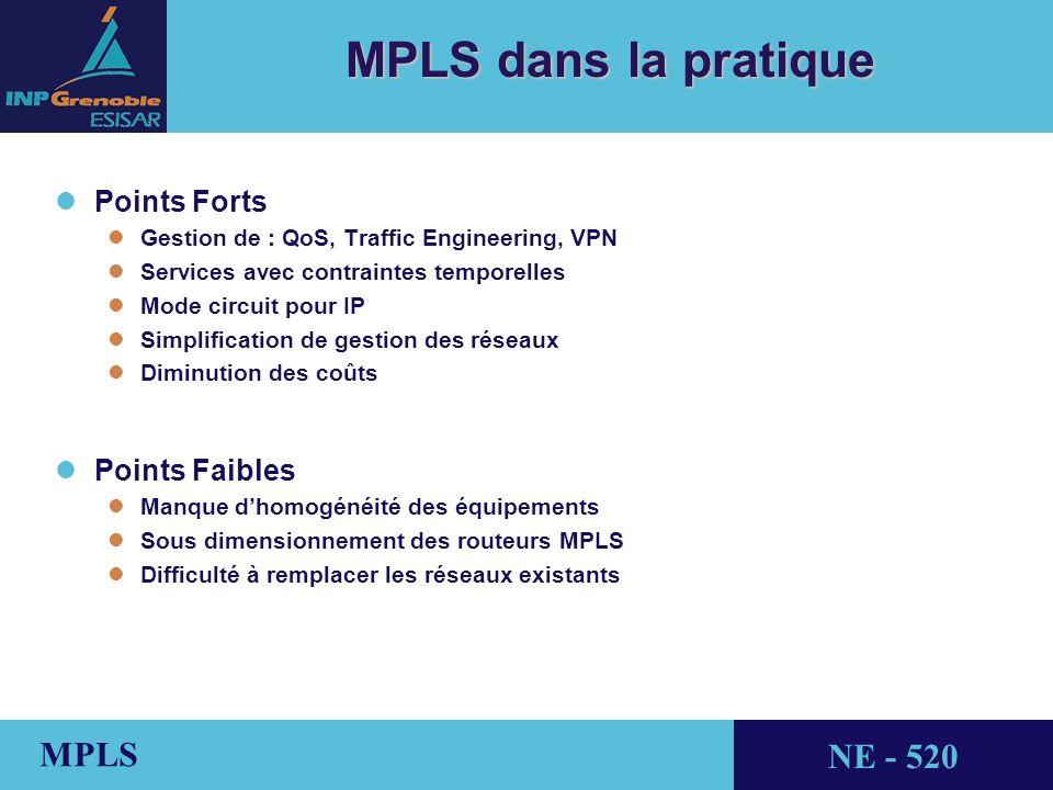 MPLS dans la pratique Points Forts Points Faibles