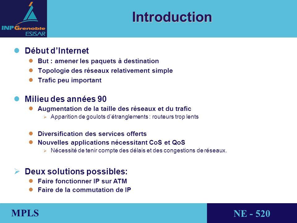 Introduction Début d'Internet Milieu des années 90