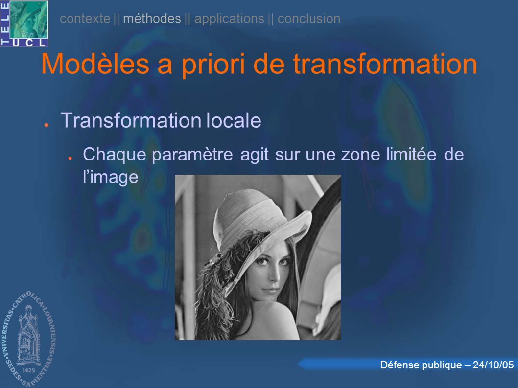 Modèles a priori de transformation
