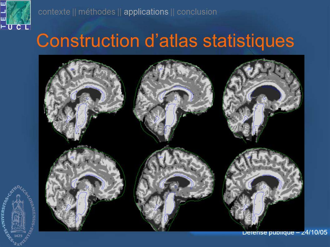 Construction d'atlas statistiques