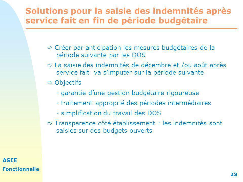 Solutions pour la saisie des indemnités après service fait en fin de période budgétaire