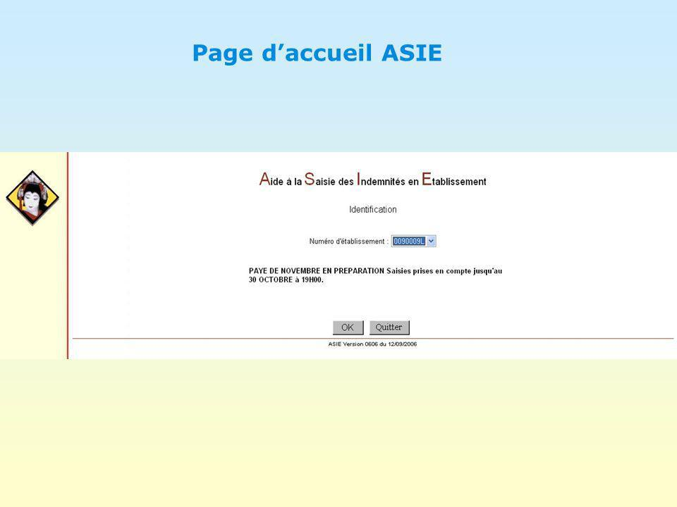 Page d'accueil ASIE