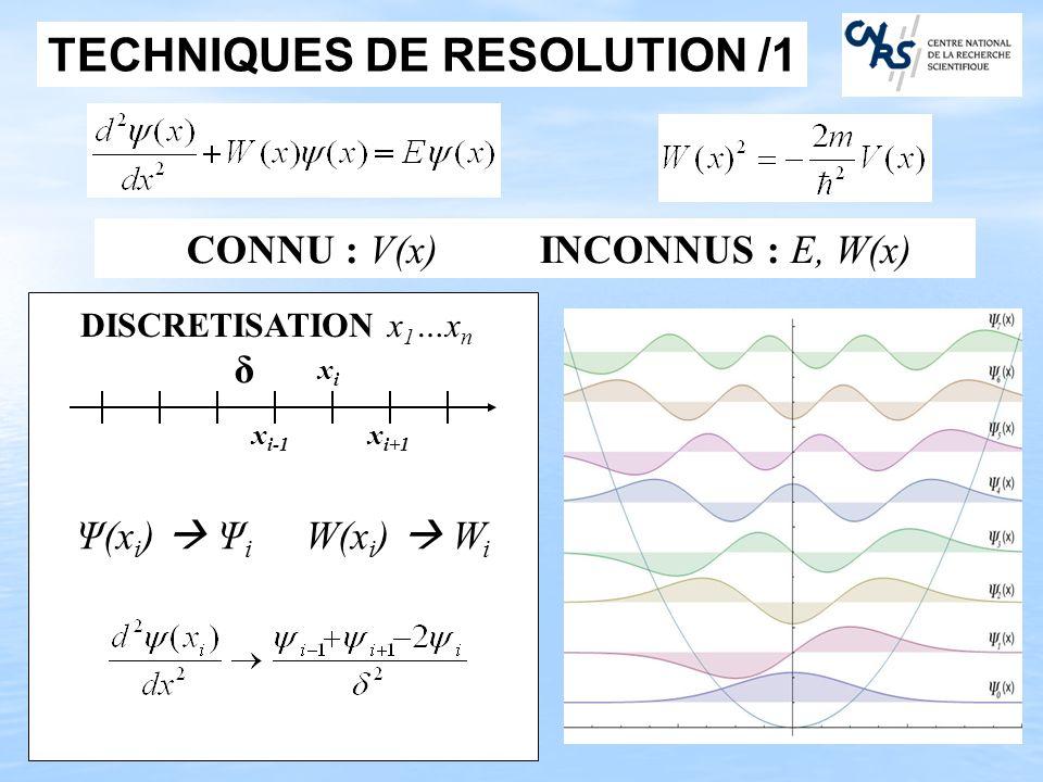 TECHNIQUES DE RESOLUTION /1