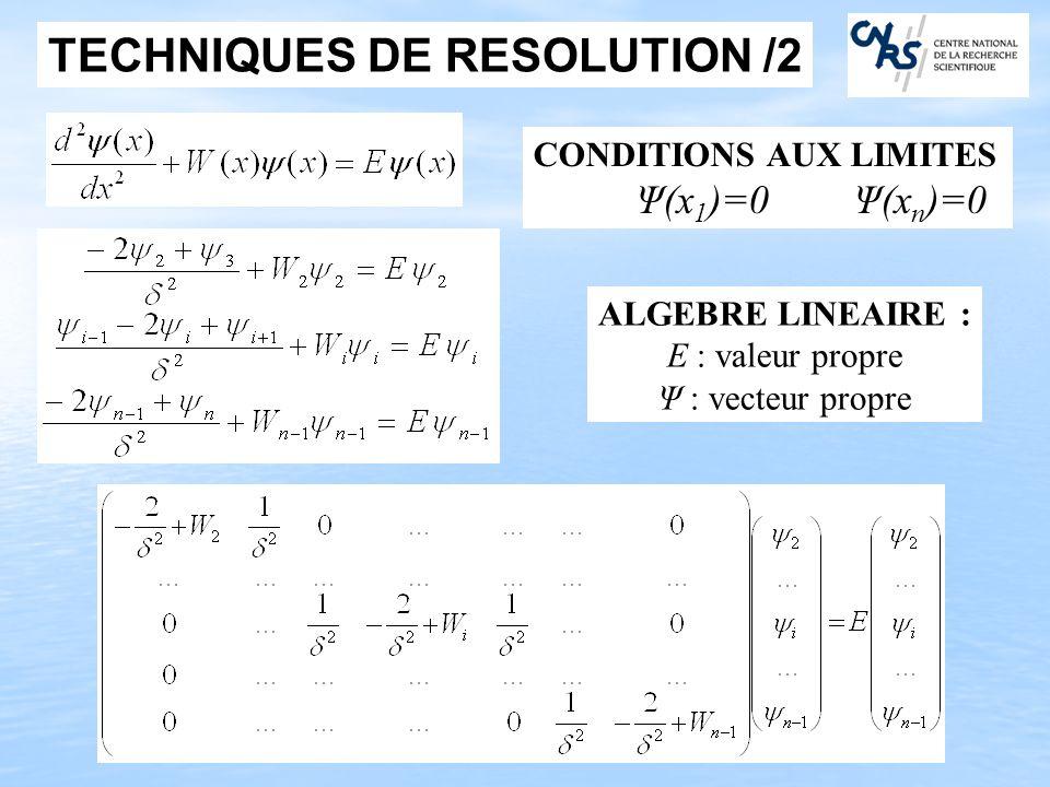TECHNIQUES DE RESOLUTION /2