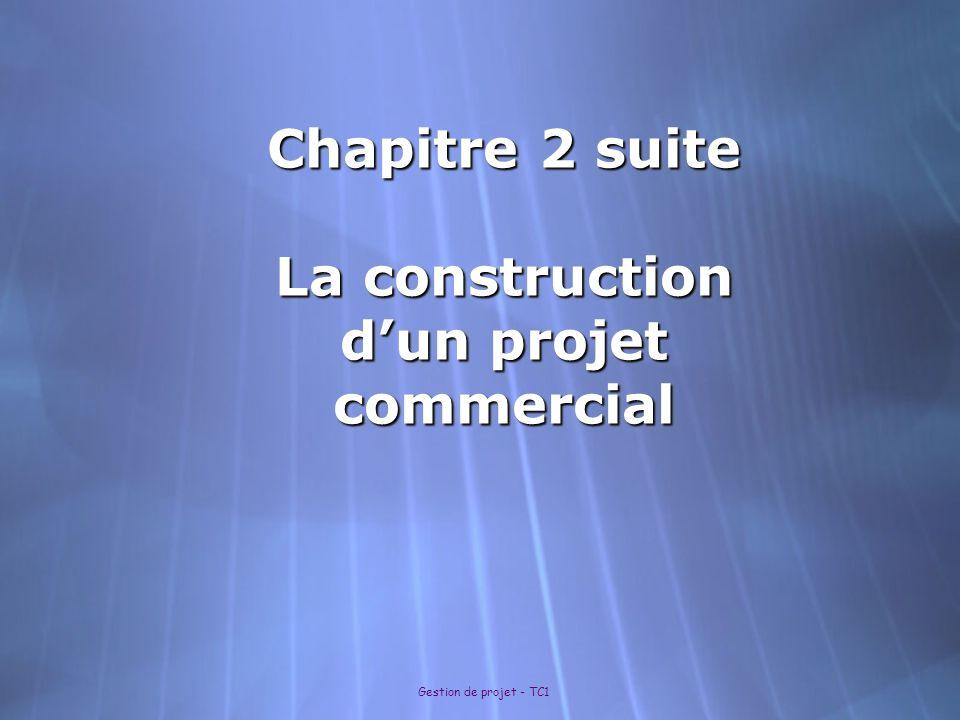 Chapitre 2 suite La construction d'un projet commercial