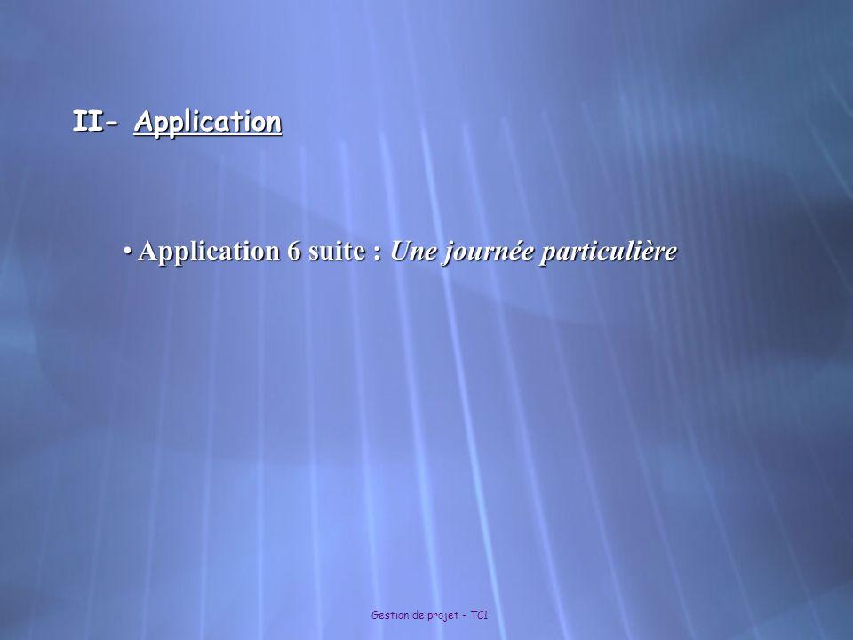 Application 6 suite : Une journée particulière