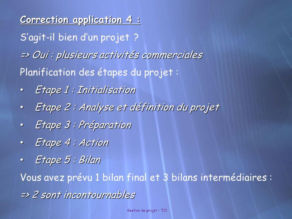 Correction application 4 : S'agit-il bien d'un projet