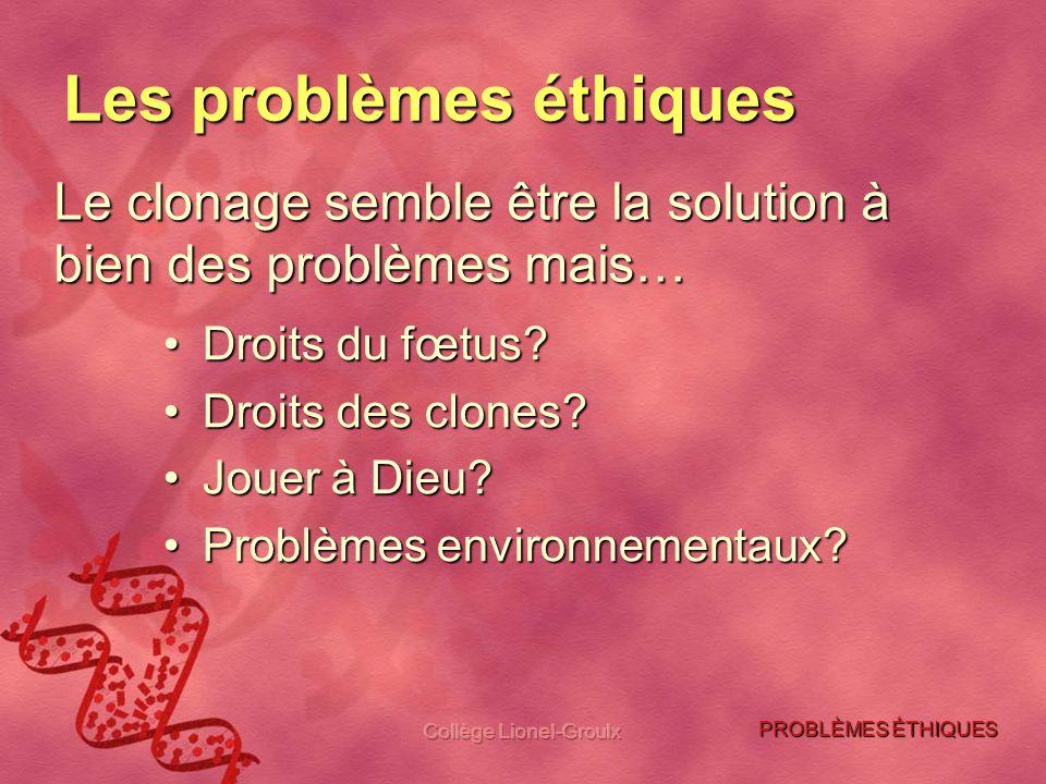 Les problèmes éthiques