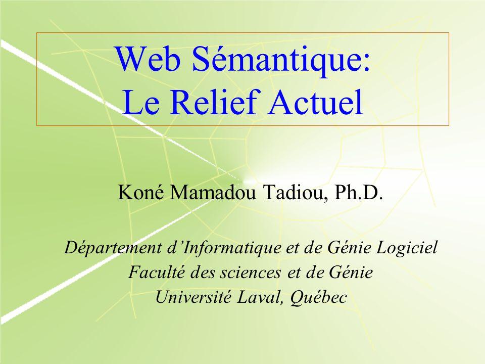 Web Sémantique: Le Relief Actuel