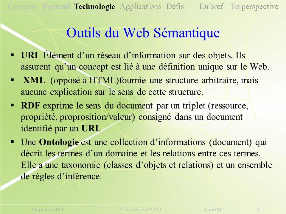 Outils du Web Sémantique