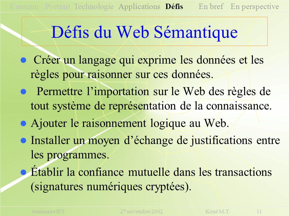 Défis du Web Sémantique
