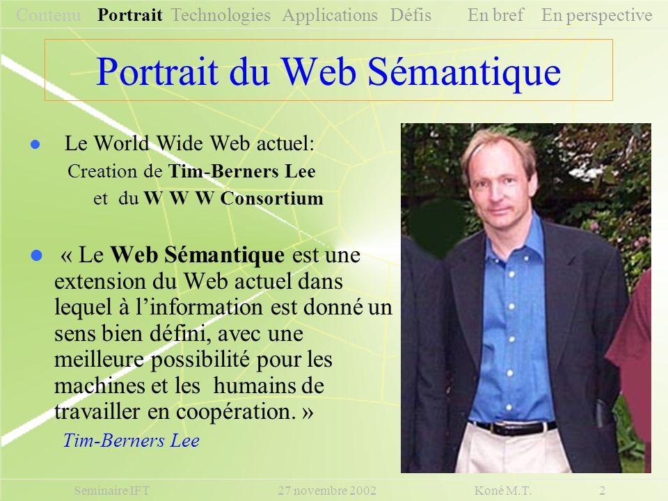 Portrait du Web Sémantique