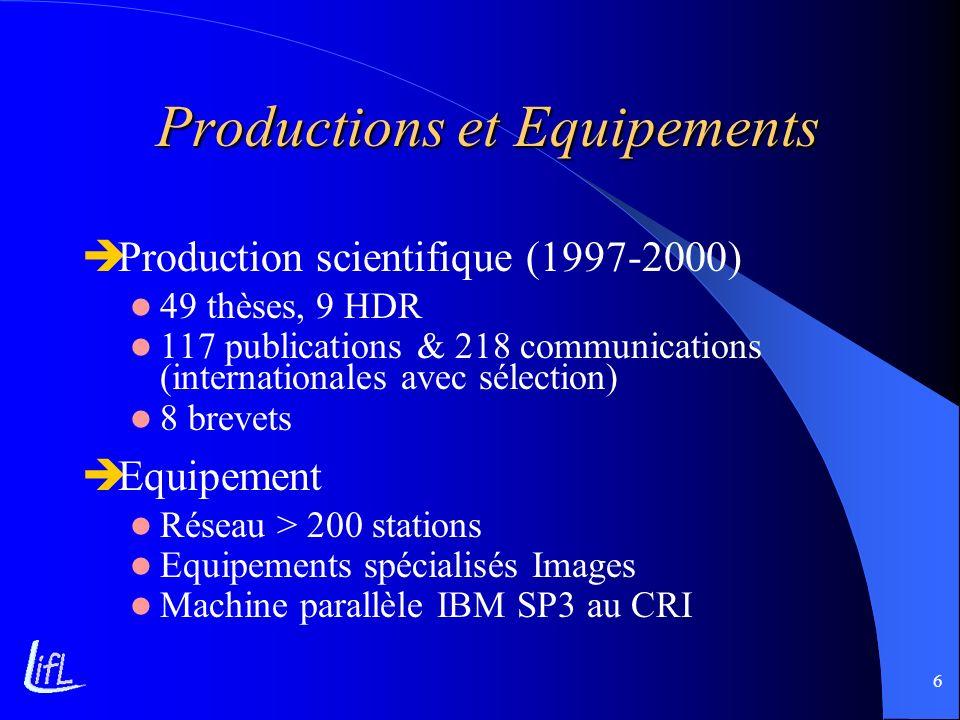 Productions et Equipements