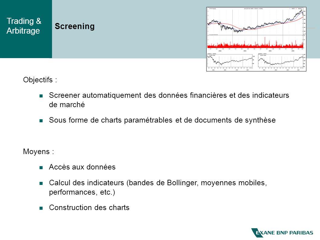 Screening Objectifs : Screener automatiquement des données financières et des indicateurs de marché.
