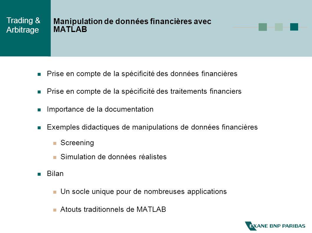 Manipulation de données financières avec MATLAB