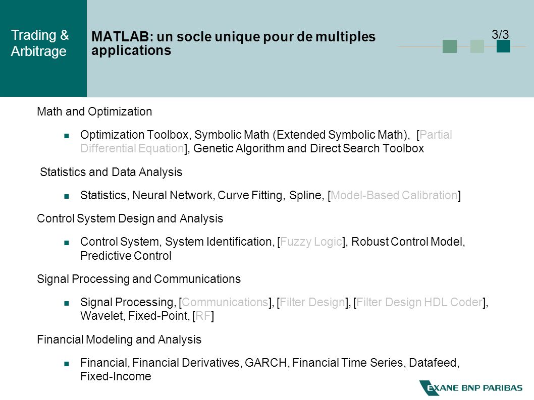 MATLAB: un socle unique pour de multiples applications