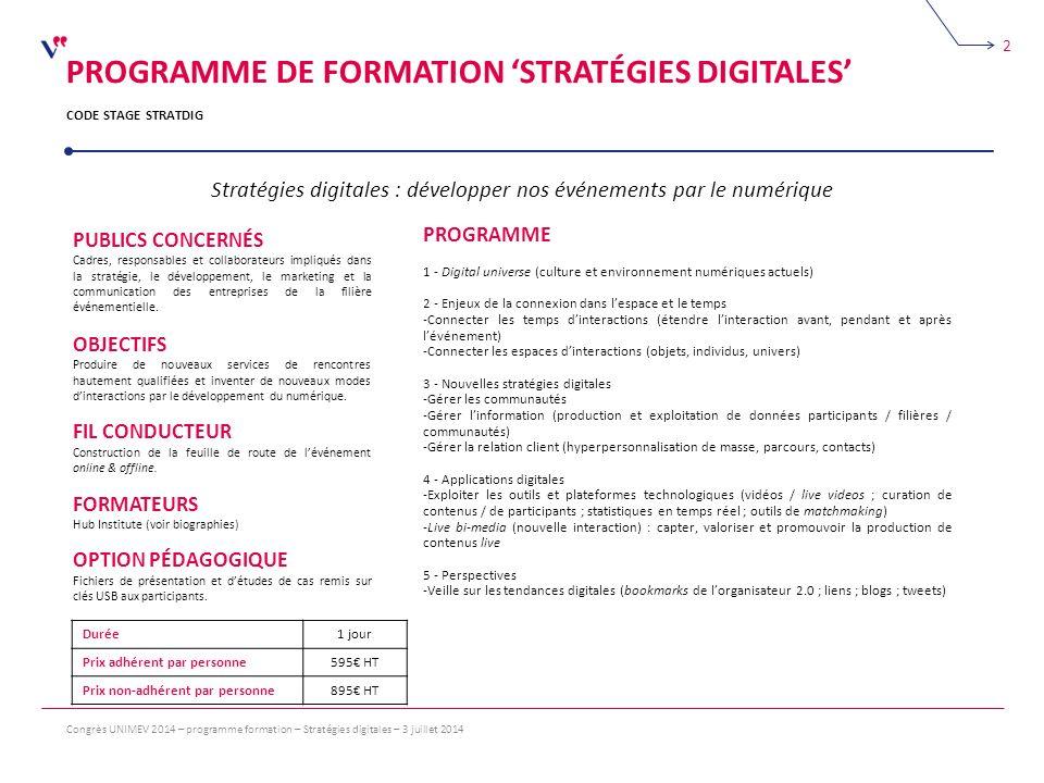Stratégies digitales : développer nos événements par le numérique