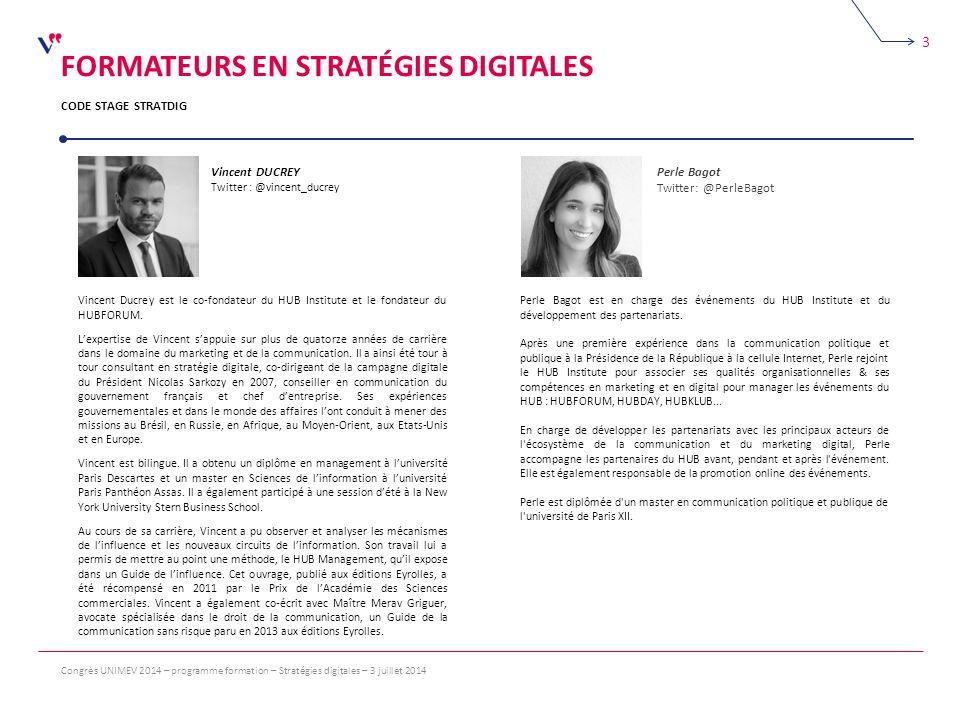 Formateurs en stratégies digitales