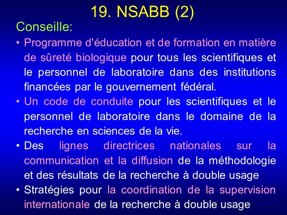 19. NSABB (2) Conseille: