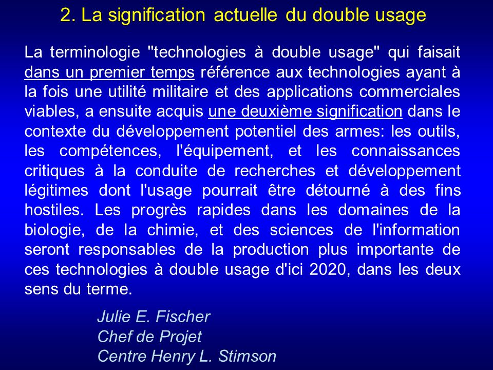 2. La signification actuelle du double usage