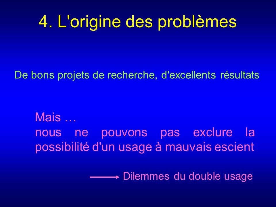 4. L origine des problèmes