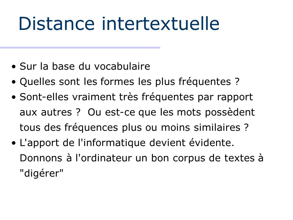 Distance intertextuelle