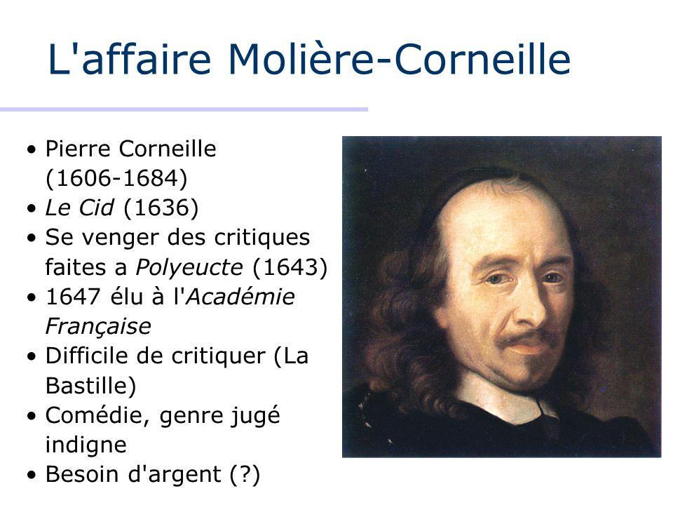 L affaire Molière-Corneille