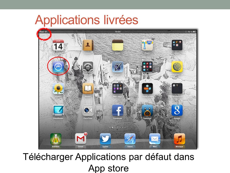 Télécharger Applications par défaut dans App store