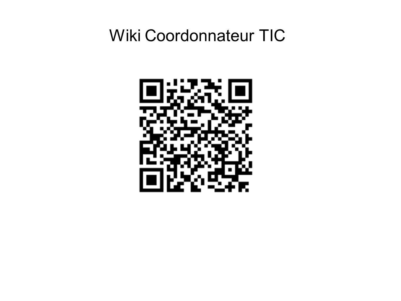 Wiki Coordonnateur TIC