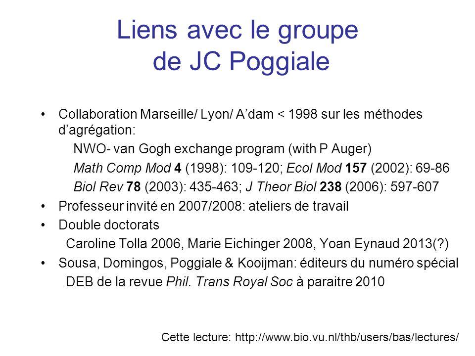 Liens avec le groupe de JC Poggiale