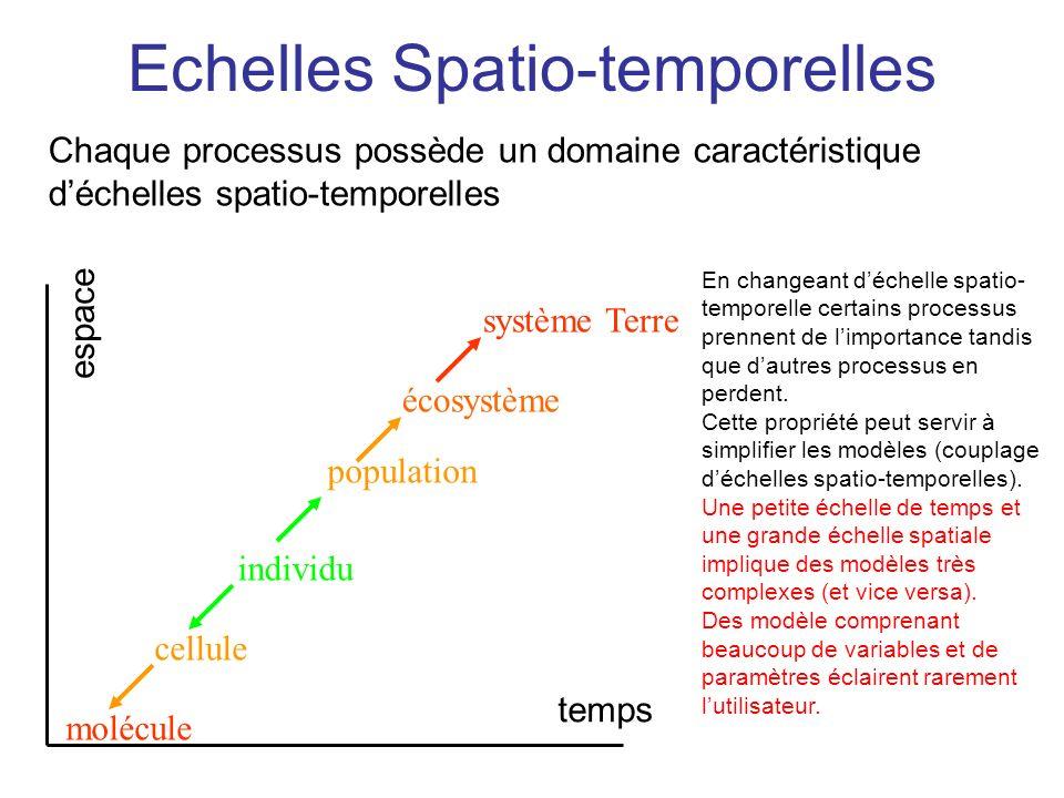 Echelles Spatio-temporelles