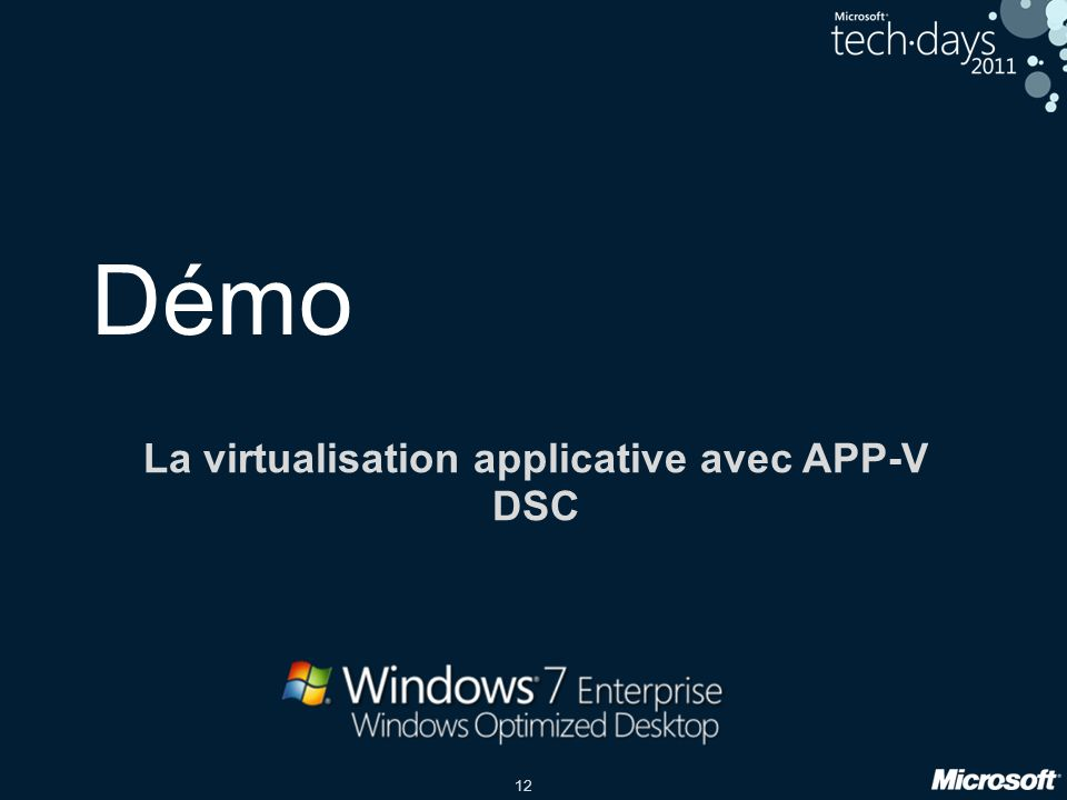 La virtualisation applicative avec APP-V DSC