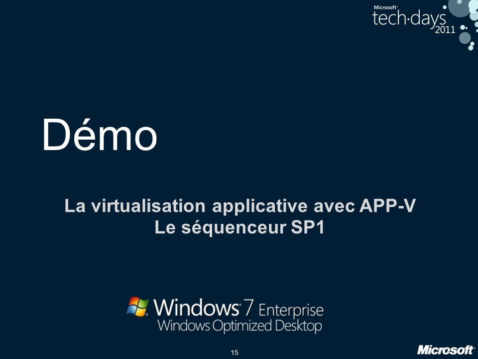 La virtualisation applicative avec APP-V Le séquenceur SP1