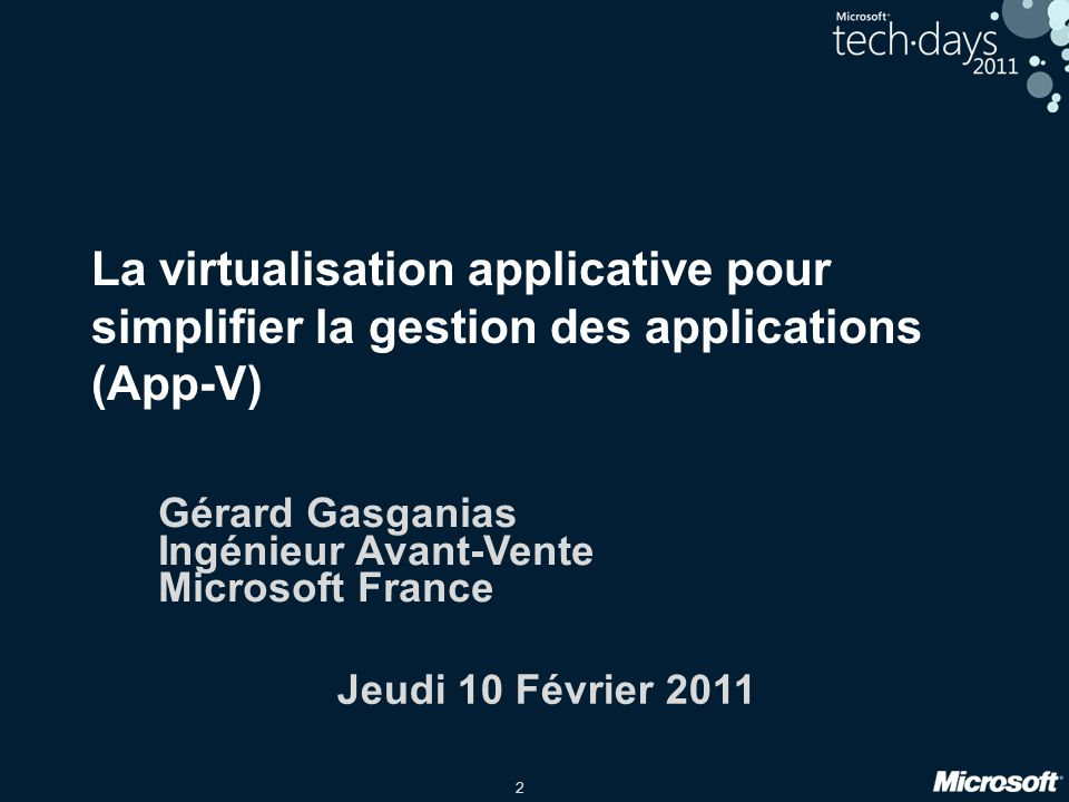 Gérard Gasganias Ingénieur Avant-Vente Microsoft France