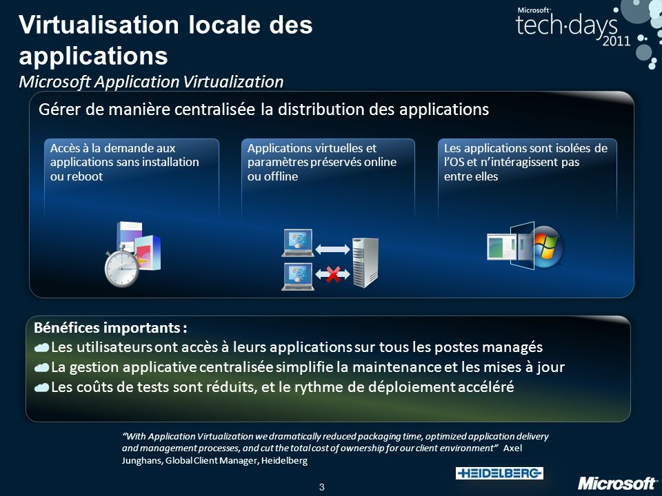 Virtualisation locale des applications Microsoft Application Virtualization