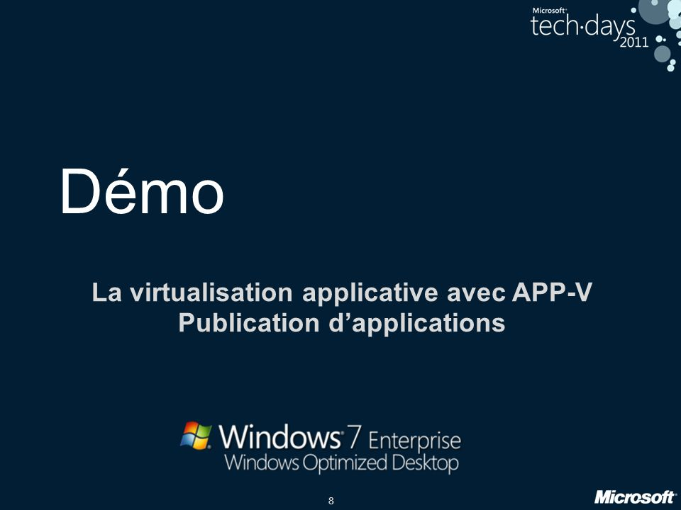 La virtualisation applicative avec APP-V Publication d'applications