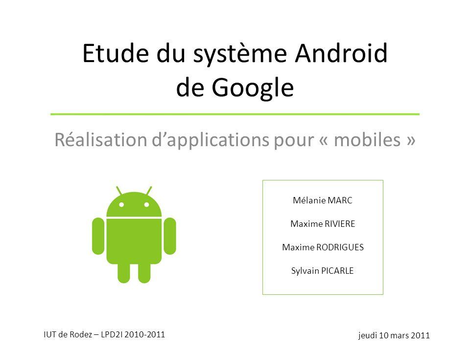 Etude du système Android de Google