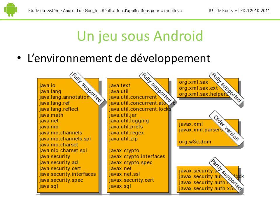 Un jeu sous Android L'environnement de développement