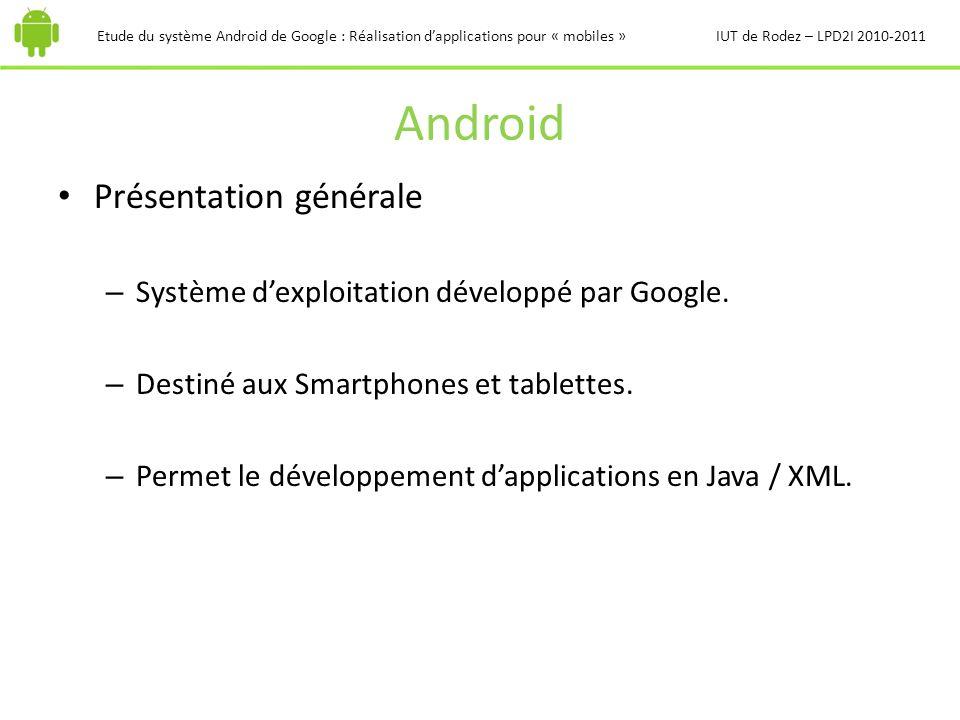 Android Présentation générale