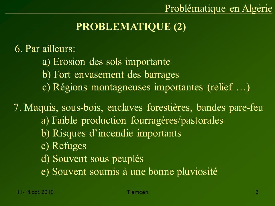 Problématique en Algérie