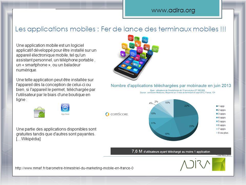Les applications mobiles : Fer de lance des terminaux mobiles !!!
