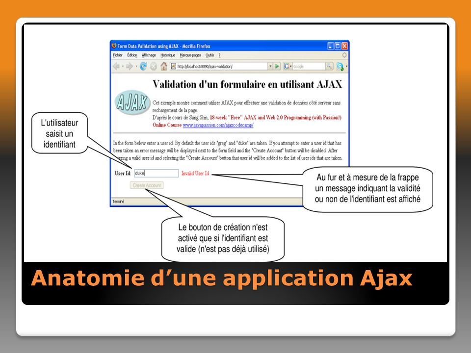 Anatomie d'une application Ajax