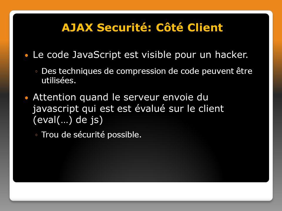 AJAX Securité: Côté Client