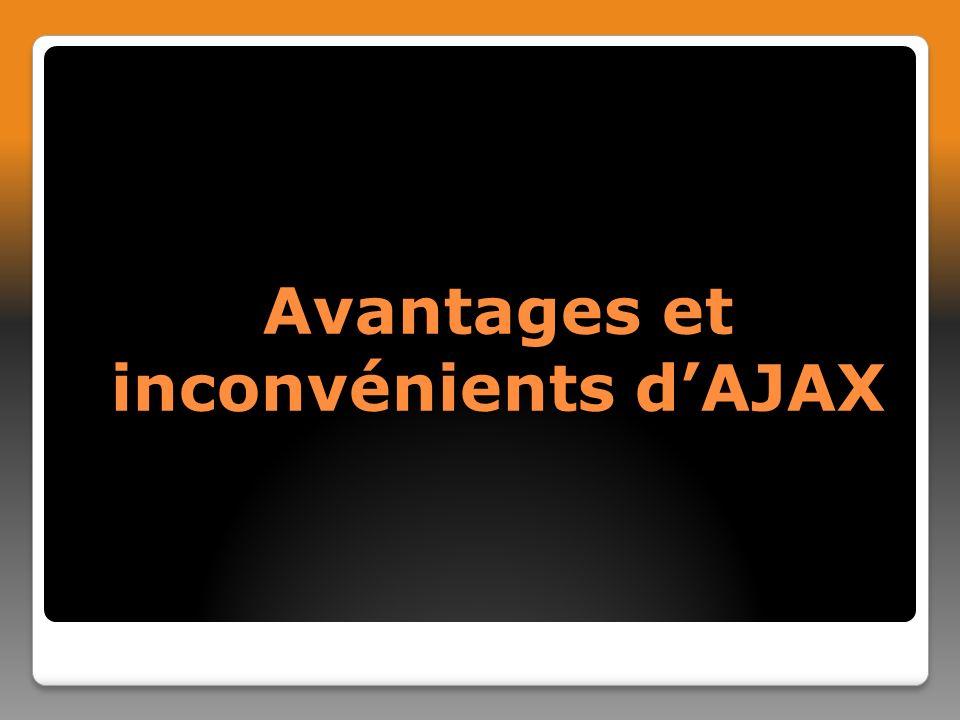 Avantages et inconvénients d'AJAX